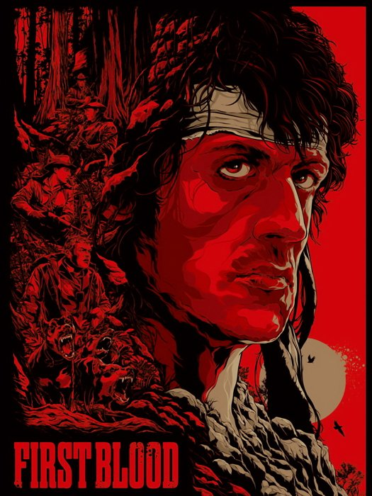 Rambo First Blood Sylvester Stallone Movie Artwork 24x18 Print Poster