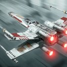 X Wing Starfighter Painting Artwork Star Wars 24x18 Print Poster