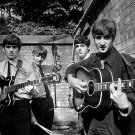 The Beatles BW Incredible Rare Retro Instruments Band 16x12 Print POSTER