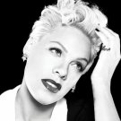Pink Incredible BW Portrait Beautiful Sexy Hot Singer 16x12 Print POSTER
