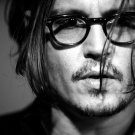Johnny Depp Amazing BW Portrait Glasses Hot Handsome 16x12 Print POSTER