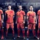 Huntelaar Van Der Vaart Sneijder Netherlands Football 16x12 Print POSTER