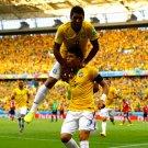 Thiago Silva Paulinho Goal Celebration World Cup Brazil 16x12 Print POSTER