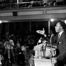 MLK Martin Luther King Jr Speech Civil Rights Retro BW 16x12 Print POSTER