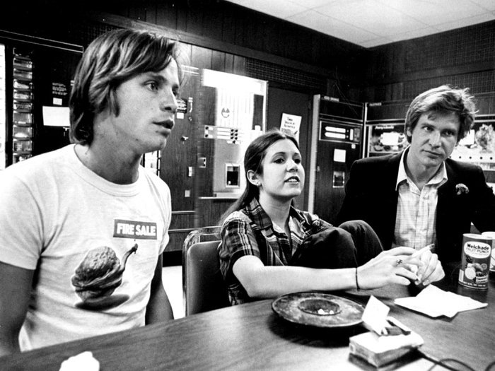 Star Wars The New Hope Behind The Scenes Movie Rare 16x12 Print POSTER