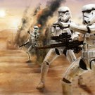 Stormtroopers Desert Star Wars Movie Awesome Painting 16x12 Print POSTER