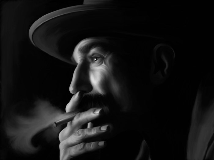 Daniel Day Lewis There Will Be Blood Smoking Portrait 16x12 Print POSTER