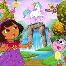 Dora The Explorer Unicorn Cartoon Beautiful Art Kids 16x12 Print POSTER
