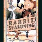 Bugs Bunny Elmer Fudd Daffy Duck Looney Tunes Painting 16x12 Print POSTER