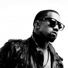 Kanye West Sunglasses BW Rapper Hip Hop Music Rap 16x12 Print POSTER