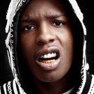 A Ap Asap Rocky Portrait Teeth Rap Hip Hop Rapper 16x12 Print Poster