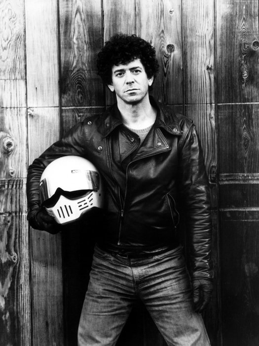 Lou Reed Rock Black Leather Motorcycle Jacket BW Retro 16x12 Print POSTER