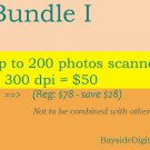 Scanning digitizing photos up to 200 photos scanned at 300 dpi special sale