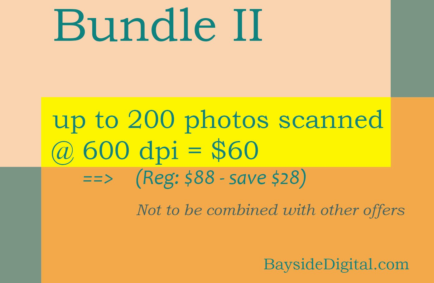 Scanning Digitizing Photos up to 200 at 600 dpi - special sale