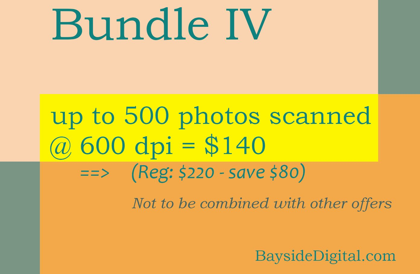 Scanning digitizing photos up to 500 scanned at 600 dpi SPECIAL SALE