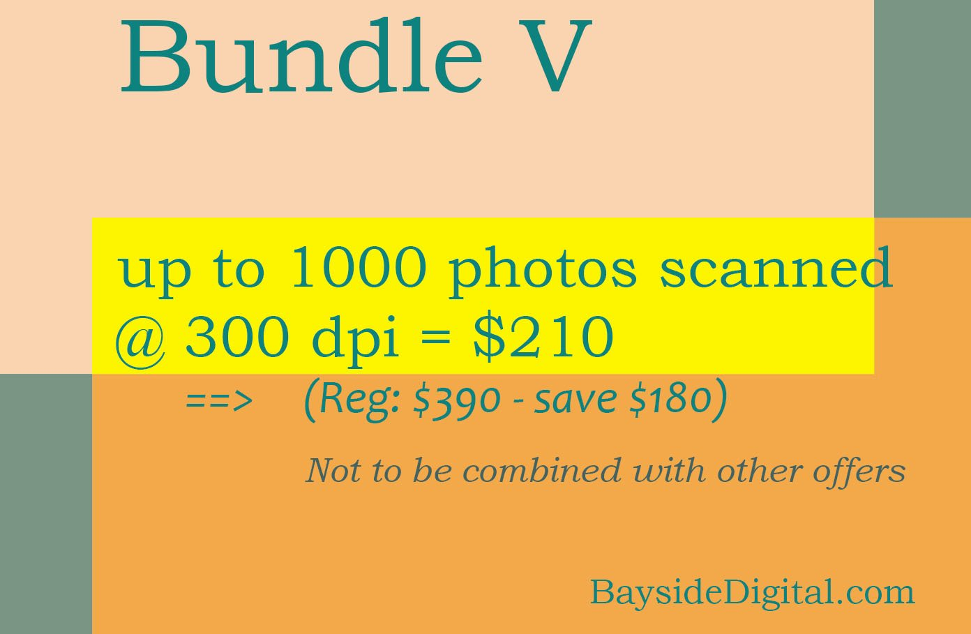 Photo digitizing scanning up 1000 photos scanned at 300 dpi SPECIAL SALE