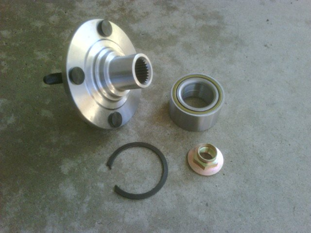 83 - 1990 Ford Escort Front Hub Bearing and Spindle Kit 720-0022 518503