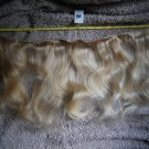 14 inch raw virgin blonde wavy curly human hair extension weft