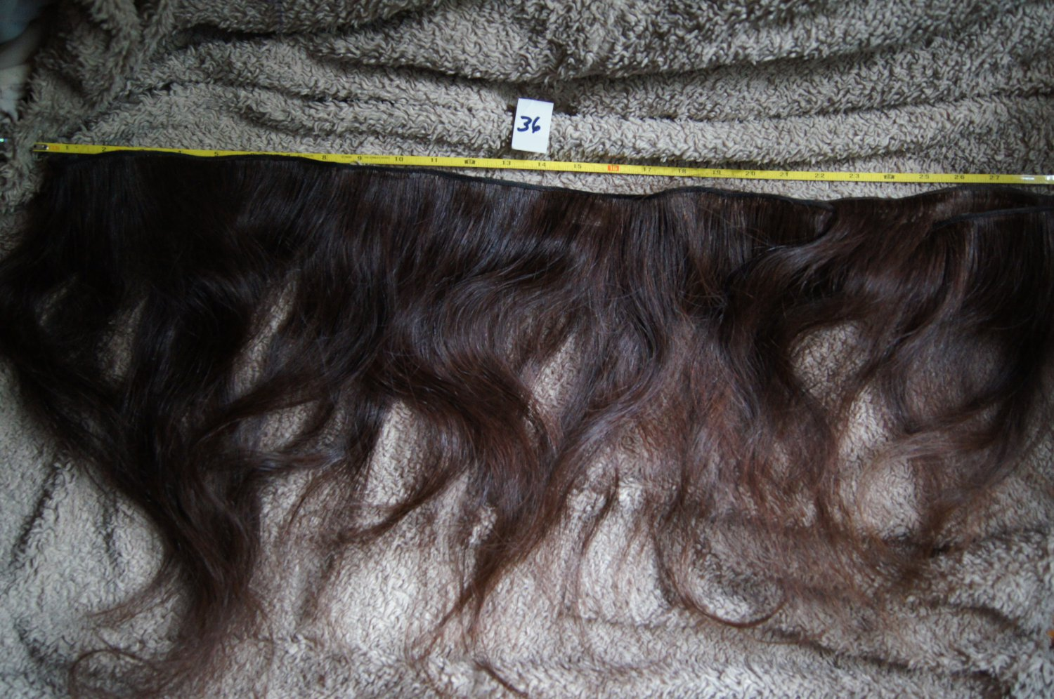 SOLD 21 inch raw virgin dark brown with a slight red tint at ends human hair extension