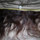 21 inch raw virgin dark brown with a slight red tint at ends human hair extension