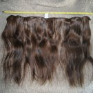 Human Hair Extension 13 inch raw virgin brown wavy human hair extension #33