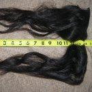 Human hair  long remy extension raw virgin curly wavy dark brown black # 38