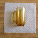 "Vintage Corelle Amber Glass 12 oz Mug 1960's - 1970's ? - Old - 5 1/2"" Tall"