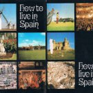 Vintage How To Live In Spain booklet no date - circa 1970's ? - travel