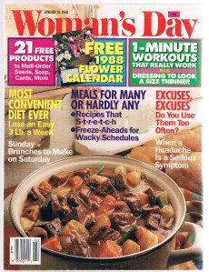 WOMAN'S DAY January 19 1988-Roselyn-Jimmy Carter Building Homes-Sunday Brunches-