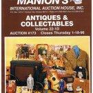 MANION'S ANTIQUES-COLLECTABLES Auction Catalog-Jan-1996