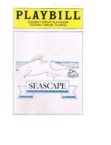 Playbill Edward Albee's SEASCAPE March 1986 at Coconut Grove Playhouse Florida