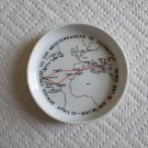 TS HANSEATIC Ashtray-Ship -Mediterranean Cruise April 20-1970 -Rosenthal Germany