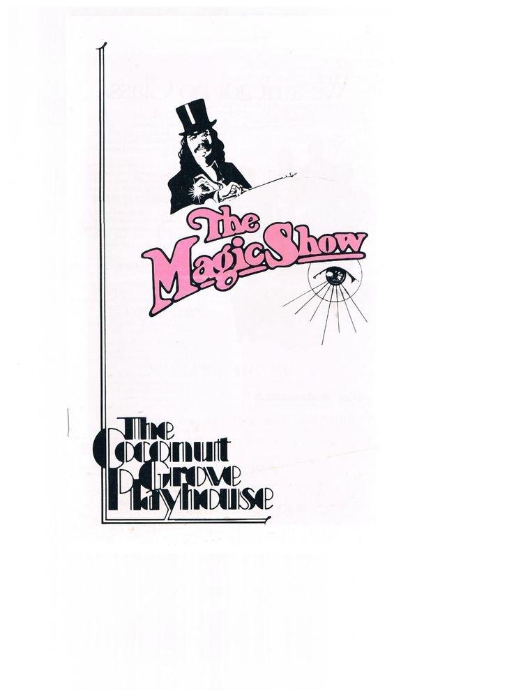 Vintage The Magic Show Program  - Coconut Grove Playhouse-Florida-Peter De Paula