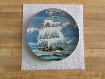 Danbury Mint Great American Sailing Ship Collector's Plate-The Columbia-Maritime