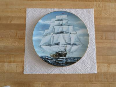 Danbury Mint Great American Sailing Ship Collector's Plate-Flying Cloud-Maritime