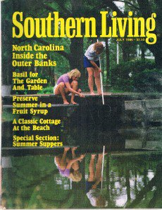 SOUTHERN LIVING July 1986 -North Carolina Outer Banks-Basil-Summer Suppers-Beach