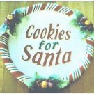 FITZ and FLOYD Cookies For Santa Plate With Candy Cane Trim - Christmas