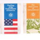 Vintage JOHN HANCOCK Bicentennial 6 History Booklets-Pilgrims-Presidents-Flags +