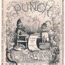 Vintage PUNCH February 17 1894 Magazine-PEARS Soap ad-Chocolat Menier-Darwinism