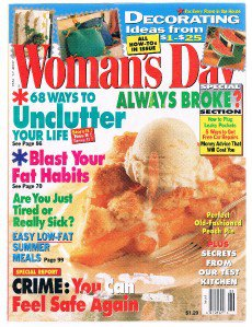 WOMAN'S DAY Magazine June 25, 1996-Perfect Peach Pie-68 Ways To Unclutter Life +