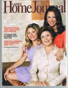 LADIES HOME JOURNAL Magazine June 2010 - Laura Bush Life  - De-Clutter Your Life