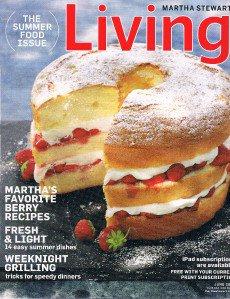 Martha Stewart Living Magazine June 2012 -Summer Food Issue -Grilling -Berries +