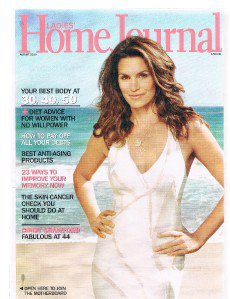 LADIES HOME JOURNAL August 2010-Improve Memory-Skin-Cancer Check -Cindy Crawford
