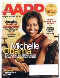 AARP Magazine Septemer 2011 - Michelle Obama cover - Dr Oz Healthy Brain Secrets