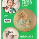 PLATE COLLECTOR Limited Edition Plate Check List 1895-1977 booklet