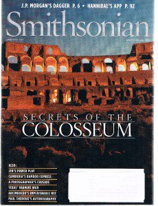 SMITHSONIAN Magazine January 2011 -Paul Theroux Autobiography-Cambodia-Colosseum