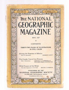 National Geographic Magazine May 1927-Zapotecs- Mexico-Family Tree of Flowers