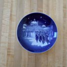 Bing & Grondahl 1990 Annual Christmas Plate - CHANGING OF THE GUARDS-cobalt blue