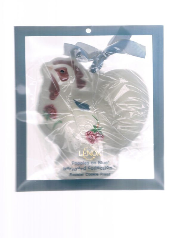 Lenox Poppies Barnyard Rooster Cookie Press cutter mold