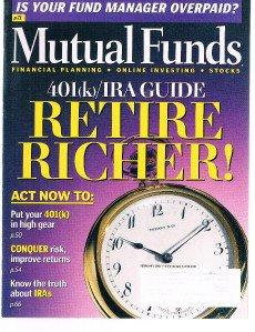 MUTUAL FUNDS Magazine February 2001-Retire Richer- 401K IRA Guide-Conquer Risk
